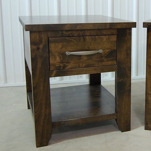 Single Drawer Farmhouse Side Table