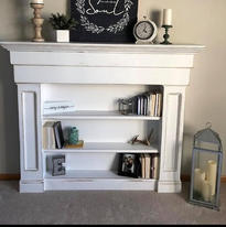 Fireplace bookcase