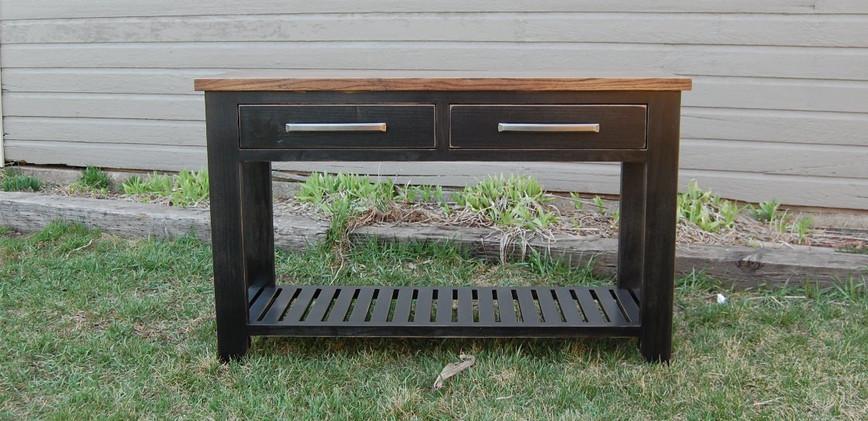 2 Drawer Farmhouse Table