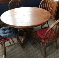 Oak Table Set Before