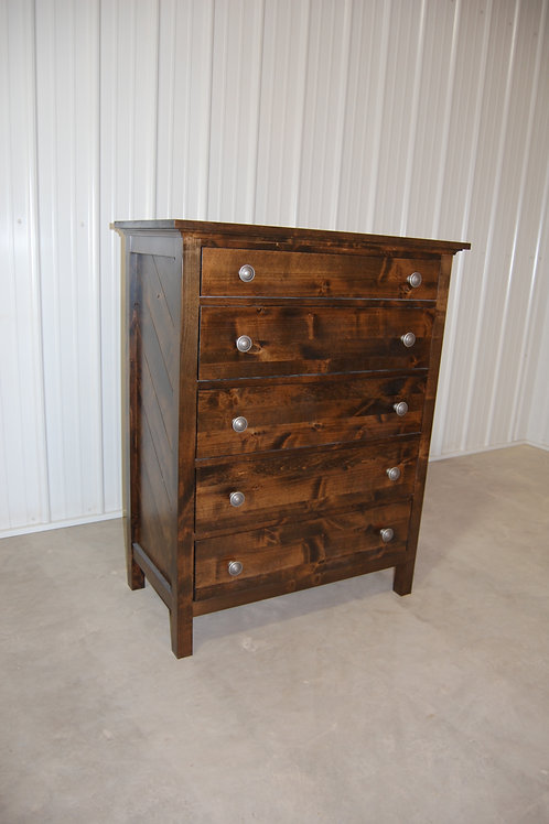 5 Drawer Tall Boy Dresser