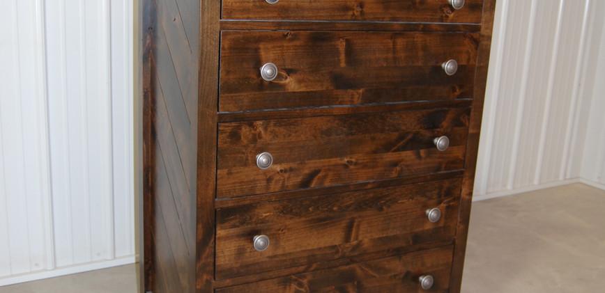 Five Drawer Tall Drawer Dresser