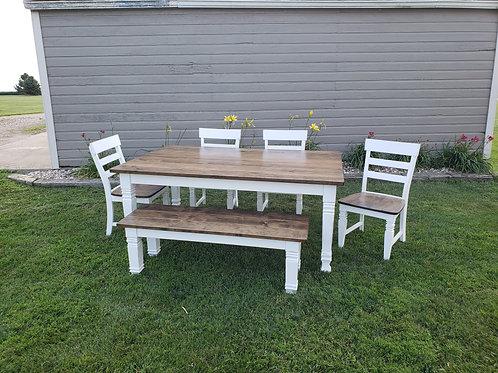 Square Farmhouse Leg Table