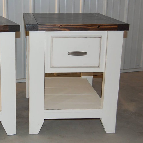 Narrow Faux Drawer Side Table