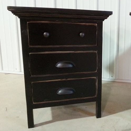Farmhouse 3 Drawer Side Table