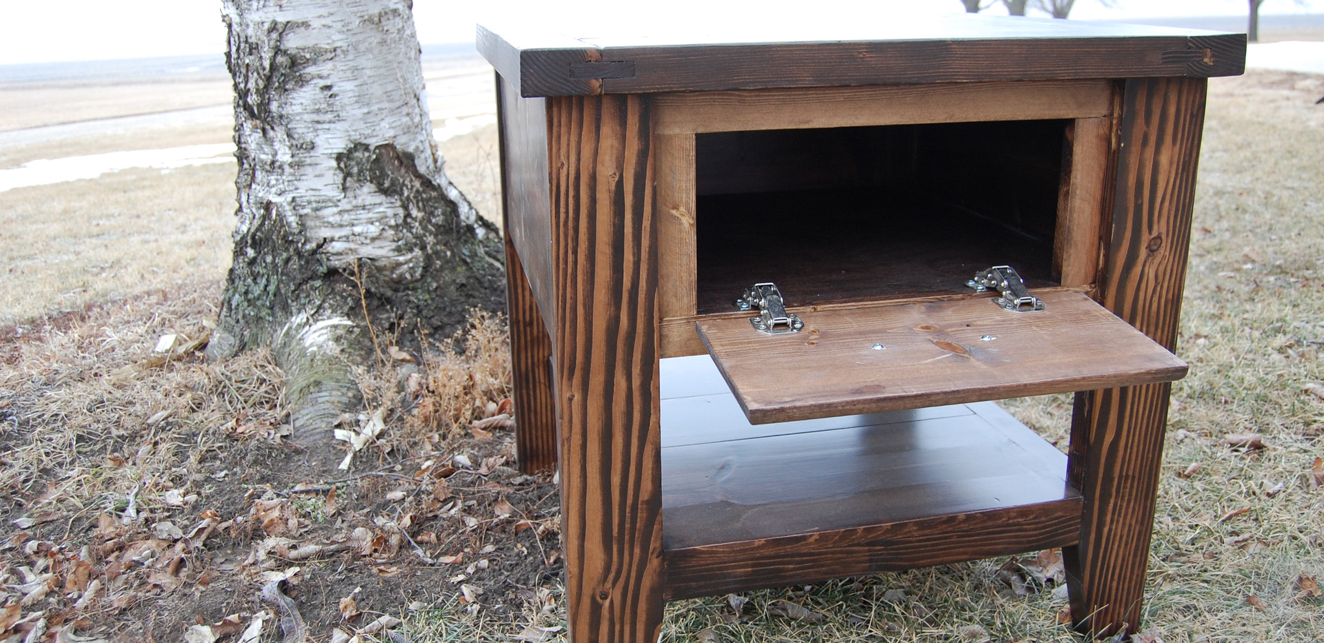 Faux Front Side Table