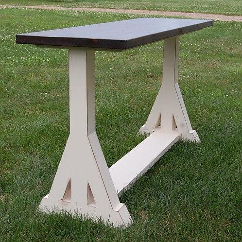 Trestle Leg Sofa Table