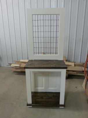 Repurposed door & crib supports