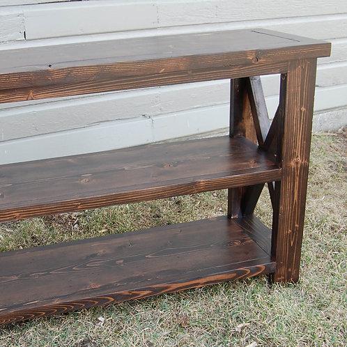 Rustic X Side Sofa Table