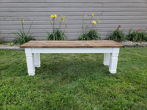 Square Farmhouse Dining Bench