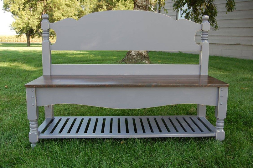 repurposed headboard & footboard