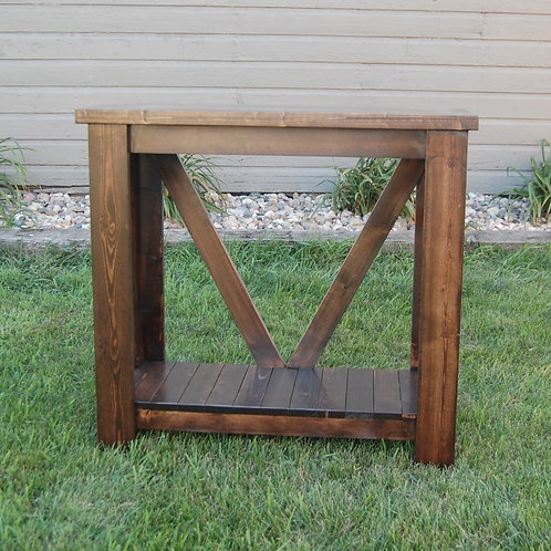 V-Back Sofa Table (Small)