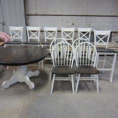Oak Table Set After