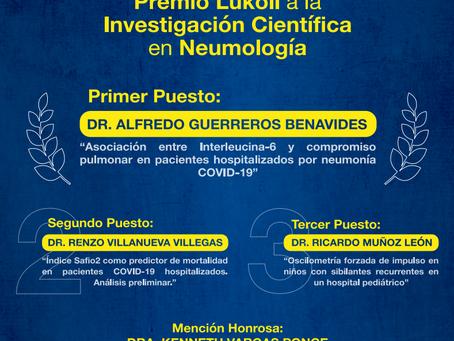 Ganadores del Premio a la Investigación Científica en Neumología