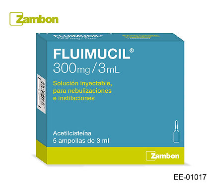 Fluimucil Ampollas 300mg/3ml