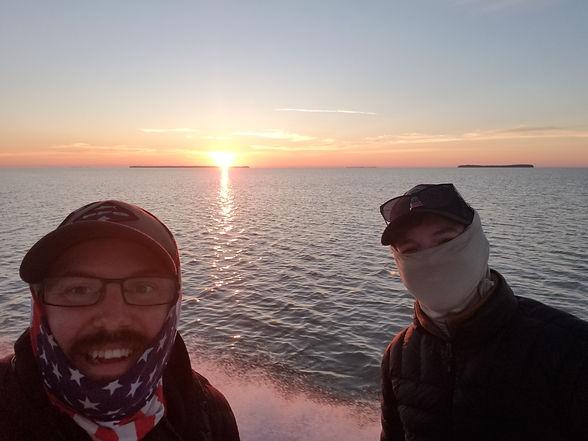 Audubon Employees enjoying a sunrise on the Florida bay.jpg