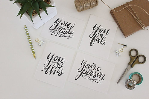 Greeting Card Set | Hand Lettered