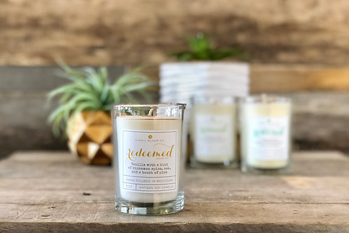 Artisan Soy Wax Candle | Redeemed