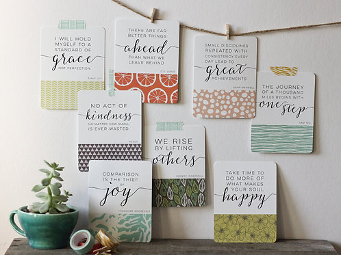 The Inspired Life | Desk Card Set
