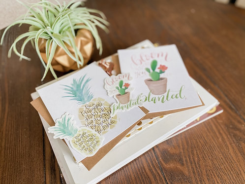 Whimsical Watercolor   Cards + Stickers