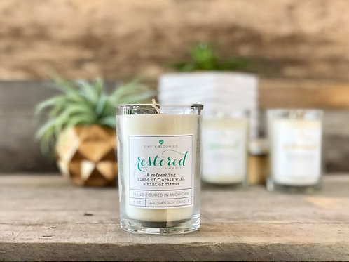 Artisan Soy Wax Candle | Restored