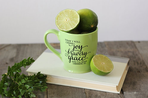 Green 'Today I Choose' Mug