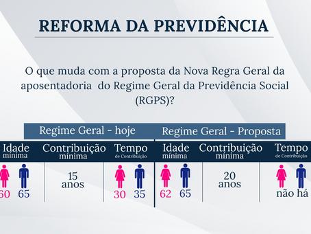 Reforma da Previdência: o que muda com a proposta da Nova Regra Geral da aposentadoria do RGPS?