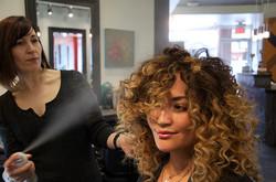 metallic hair salon