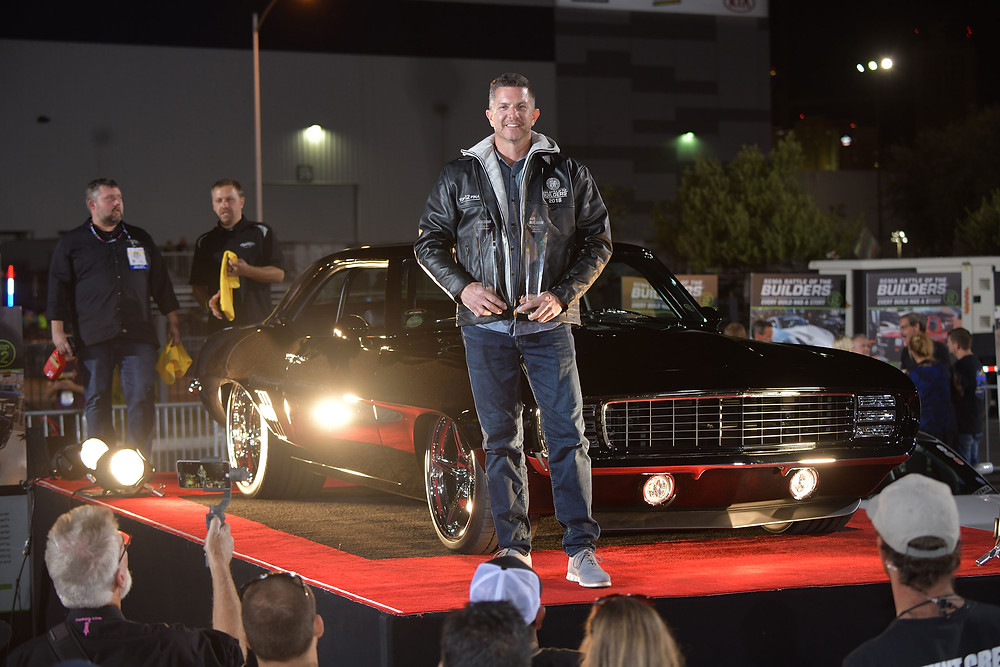 Kyle Tucker, winner of the fifth-annual SEMA Battle of the Builders competition