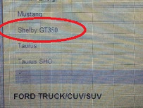 Did a Dealer Marketing Order Confirm a new Shelby GT350