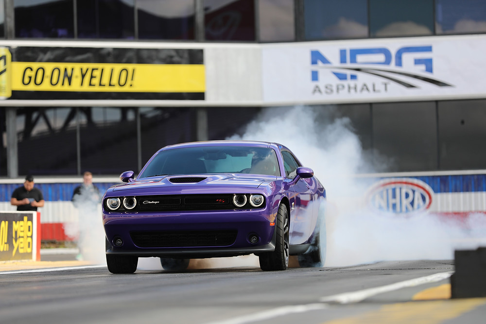 Arriving in FCA US dealerships now, the drag-oriented, street-legal 2019 Dodge Challenger R/T Scat Pack 1320 is National Hot Rod Association (NHRA) approved for competition in NHRA Stock and Super Stock Sportsman class competition for the 2019 season. Named for quarter-mile distance, the showroom-stock Challenger R/T Scat Pack 1320 is the fastest naturally aspirated, street-legal muscle car, with quarter-mile elapsed time of 11.70 seconds at 115 mph.