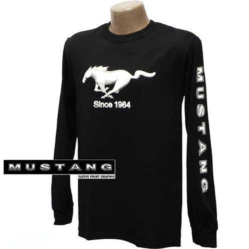 Mustang Black Long Sleeved T-Shirt