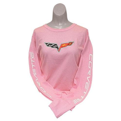 C6 Corvette Ladies Long Sleeved T-Shirt