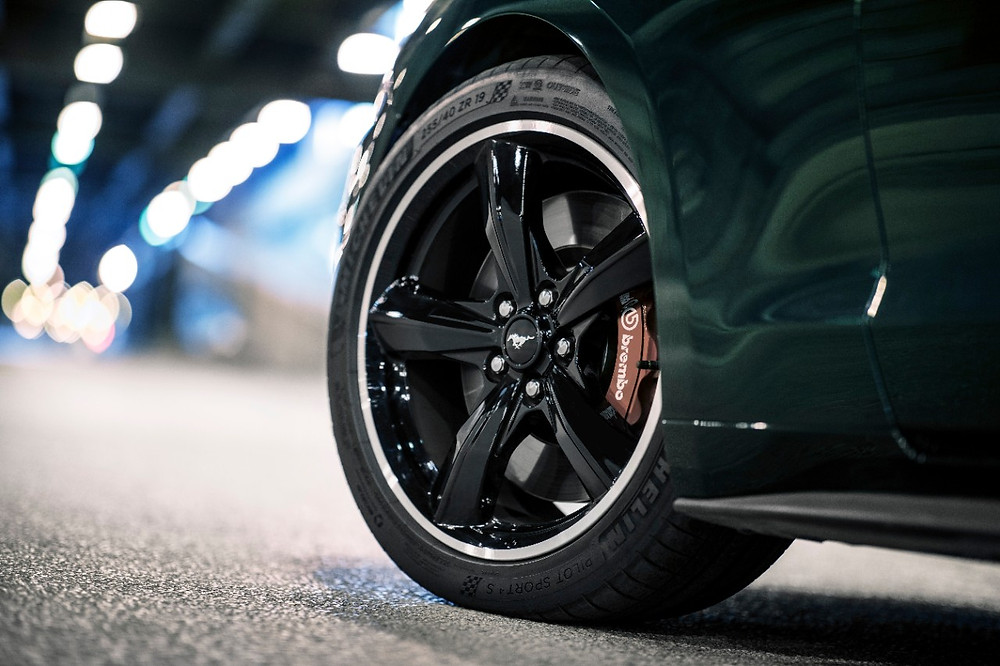 2019 Ford Mustang Bullitt wheel and caliper