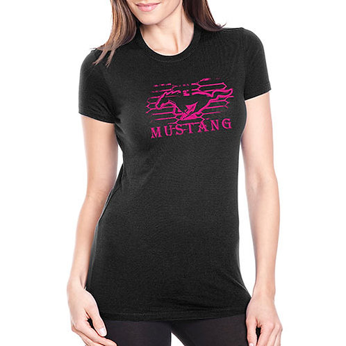Ladies Ford Mustang Modern Grille T-Shirt