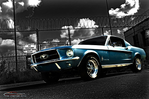 "MotorCaves© Metal Print Wall Art ""67 GT"""
