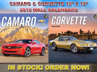 STORE: New Corvette and Camaro 2015 Calendars