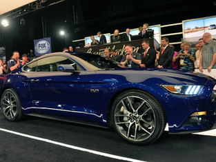 First Production 2015 Ford Mustang Sells for $300k at Barrett-Jackson