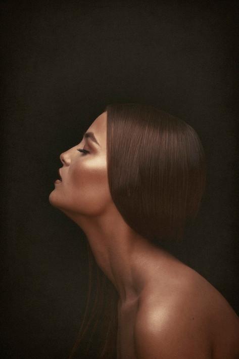 Beauty portrait for Milanas Makeup