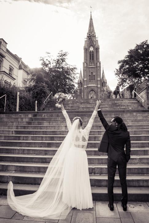 Bryllupsfotografering på location i Bergen
