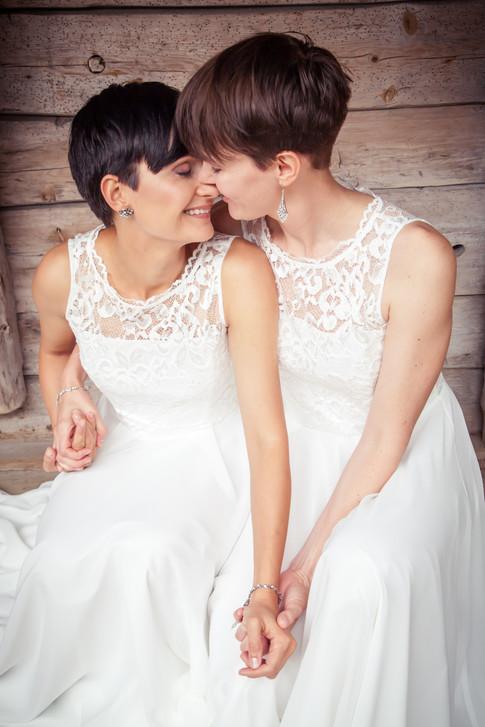 Kjærlighet portrett av brudepar.
