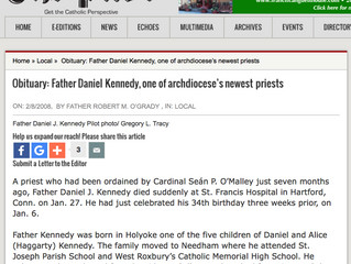 Obituary: Father Daniel Kennedy, one of archdiocese's newest priests