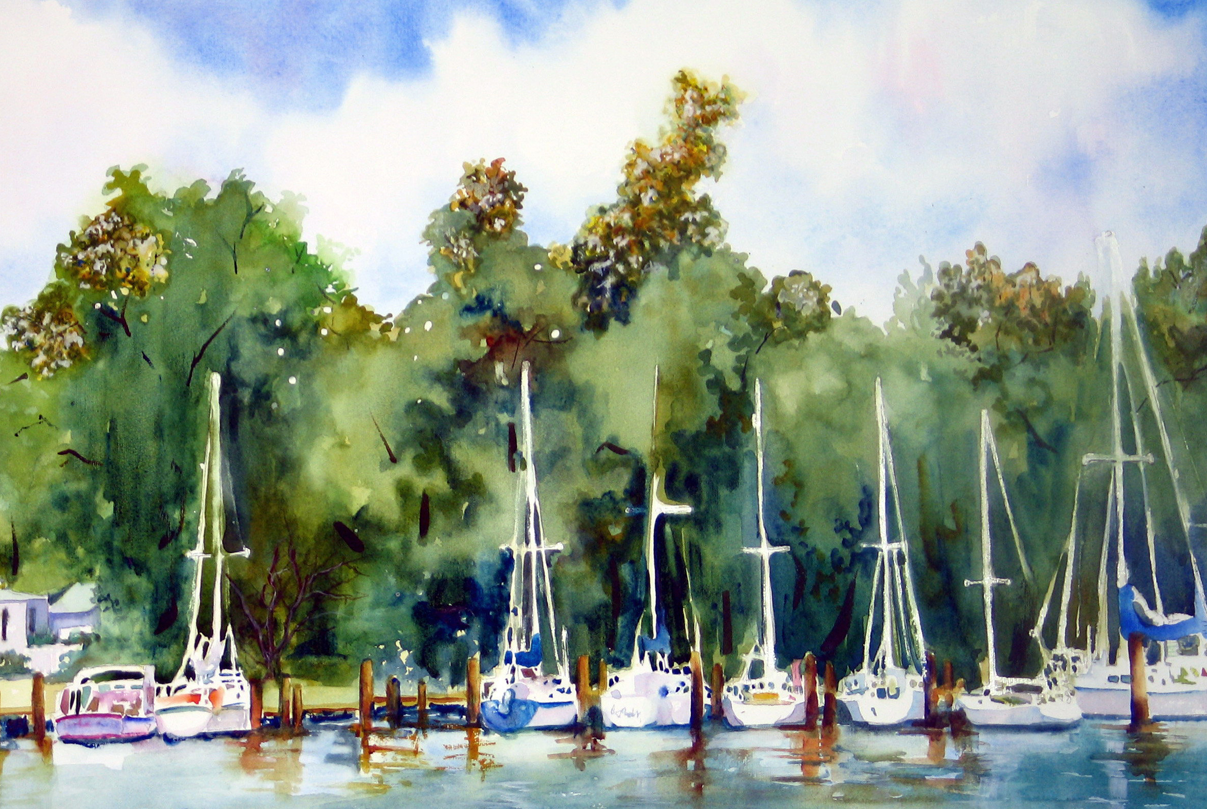 Boats on the Chesapeake for Card