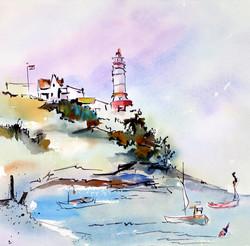 Lighthouse Coast 12X12