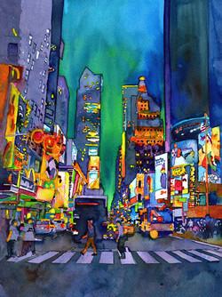 New York at Night 12X16