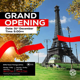 Grand opening of Eiffel Tower