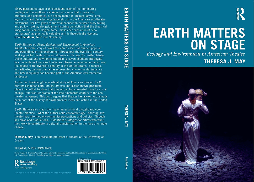 The front and back cover of the book Earth Matters on Stage.