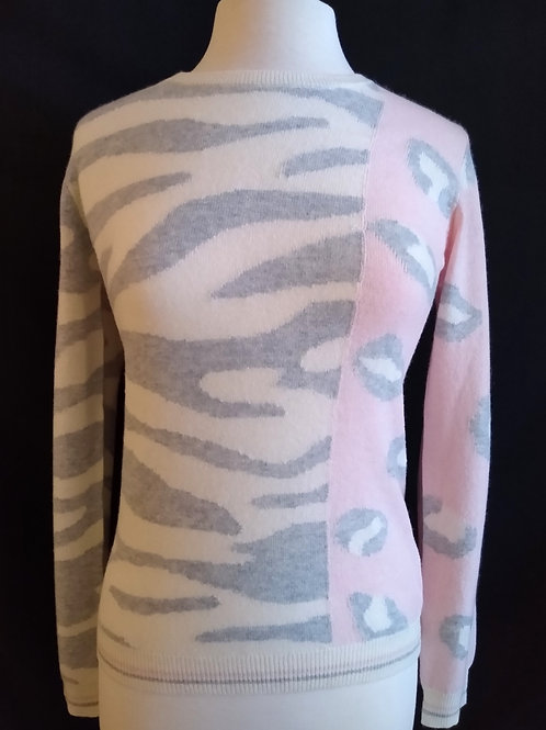 The Pink Zebra Cheetah Sweater