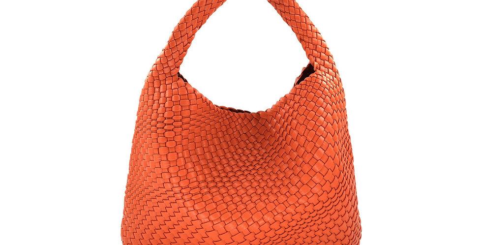 Basket Weave Hobo Tote
