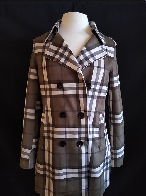 The Microfiber Plaid Trench